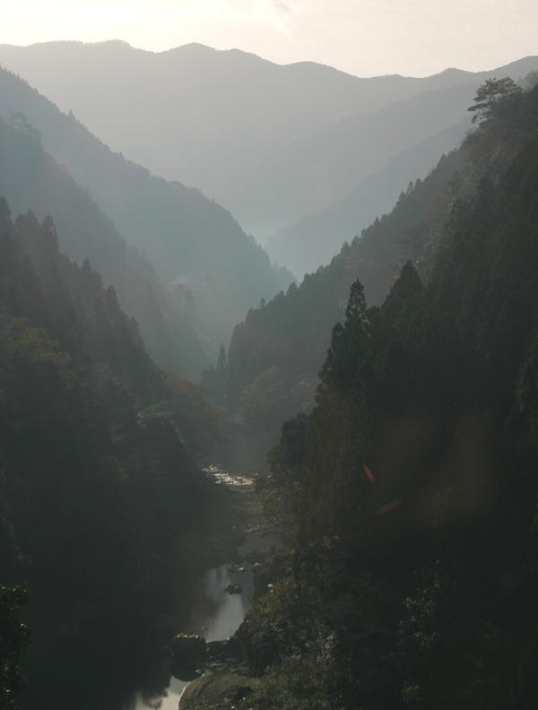 徳島県の祖谷渓谷
